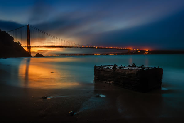 Golden Gate Bridge from Kirby Cove by Todd Sipes
